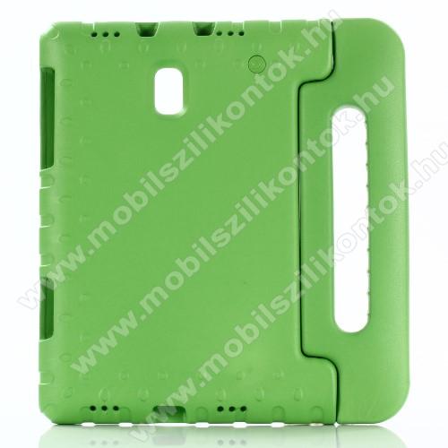 Shockproof műanyag védő tok / hátlap - ZÖLD - hordozható, asztali tartó funkciós, ERŐS VÉDELEM! - SAMSUNG SM-T590 Galaxy Tab A 10.5 Wi-Fi / SAMSUNG SM-T595 Galaxy Tab A 10.5 LTE
