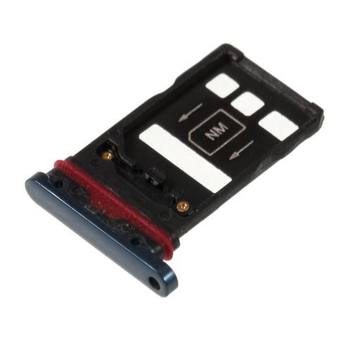 SIM kártya / Nano Memóriakártya tartó tálca - KÉK - HUAWEI Mate 20 Pro - GYÁRI
