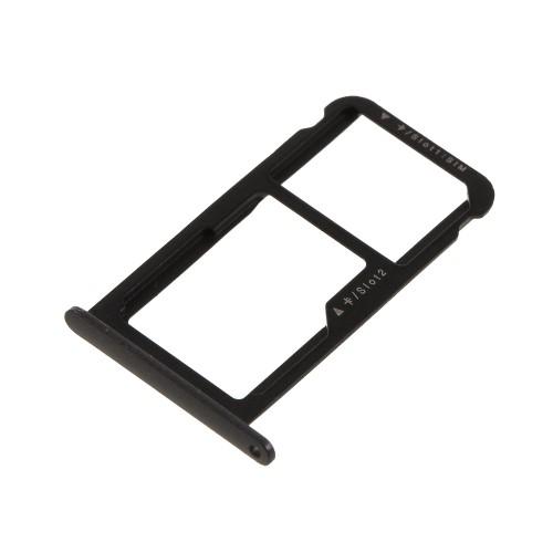 SIM kártya tartó tálca - FEKETE - HUAWEI P10 Lite - GYÁRI