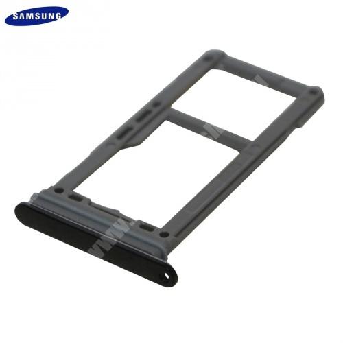 SIM kártya tartó tálca, nano SIM és microSD - FEKETE - SAMSUNG SM-G950 Galaxy S8 - GH98-41131A - GYÁRI