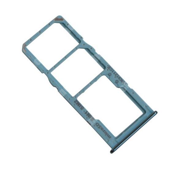 SIM kártya tartó tálca, nano SIM és microSD - KÉK - SAMSUNG Galaxy A51 (SM-A515F) - GH98-45036C - GYÁRI