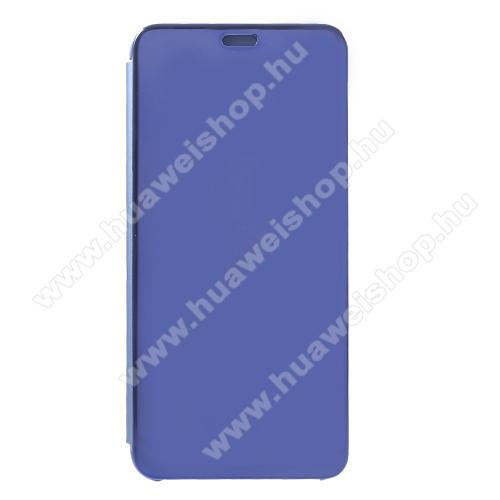 SLIM DESIGN notesz / flip tok - KÉK - oldalra nyíló áttetsző flip cover, műanyag belső - HUAWEI nova 3i / HUAWEI P Smart+