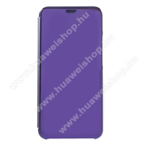 SLIM DESIGN notesz / flip tok - SÖTÉTLILA - oldalra nyíló áttetsző flip cover, műanyag belső - HUAWEI nova 3i / HUAWEI P Smart+