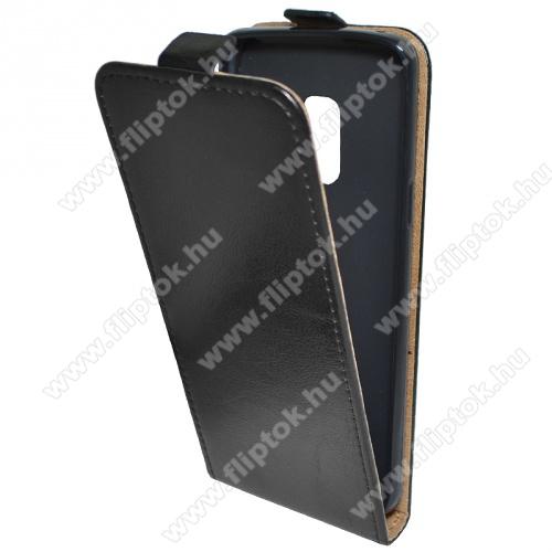 SLIM FLIP tok - lefelé nyíló, rejtett mágneses záródás - FEKETE - SAMSUNG SM-G960 Galaxy S9