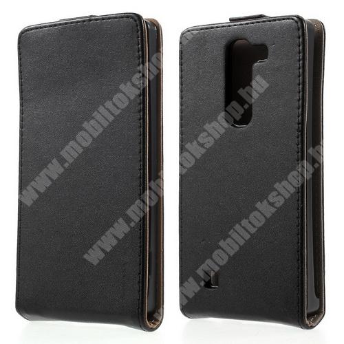 LG G4c (H525N) SLIM Flip tok - lefelé nyíló, rejtett mágneses záródás - FEKETE - LG G4c (H525N)