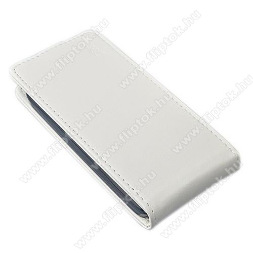 SLIM FLIP tok - lefelé nyíló, rejtett mágneses záródás - FEHÉR - SAMSUNG SM-G930 Galaxy S7