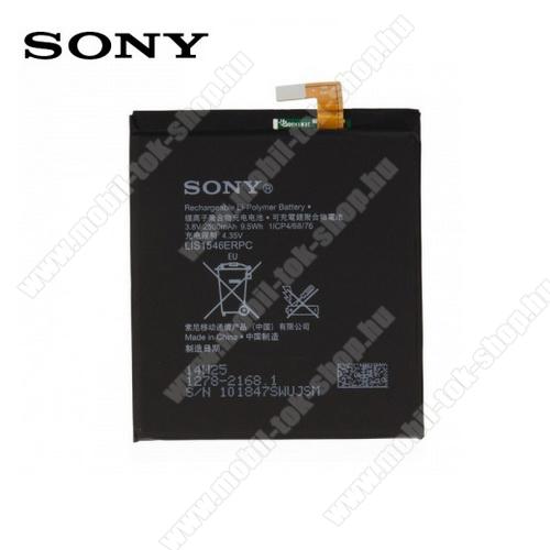 SONY akku 2500 mAh LI-ION - 1278-2168 / LIS1546ERPC - SONY Xperia C3 (D2533) / SONY Xperia T3 (D5102 / D5103 / D5105) - GYÁRI - Csomagolás nélküli
