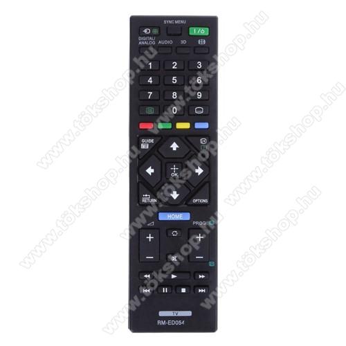 SONY RM-ED054 utángyártott TV távirányító -  2x AAA elemmel működik (NEM TARTOZÉK) - FEKETE