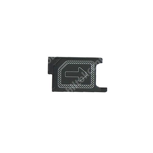 SONY SIM kártya tartó tálca - FEKETE - SONY Xperia Z3 (D6603 / D6616 / D6643 / D6653 / D6633 ) - GYÁRI