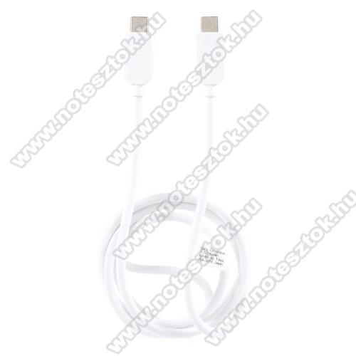 NOKIA 7.1SONY USB Type-C / Type-C adatátviteli kábel / USB töltő 0,2 m - FEHÉR - GYÁRI