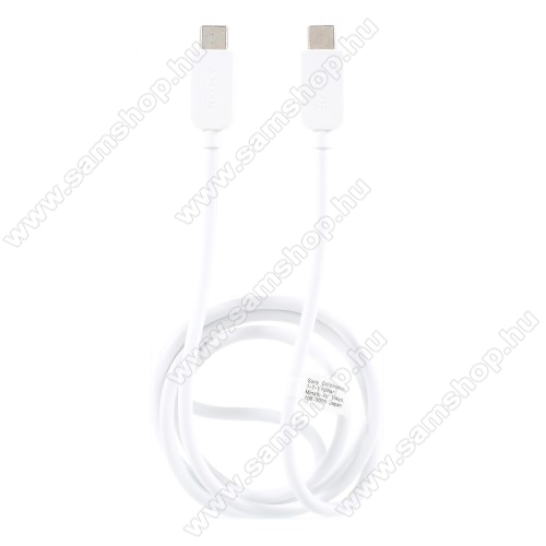 SAMSUNG SM-C7000 Galaxy C7 ProSONY USB Type-C / Type-C adatátviteli kábel / USB töltő 0,2 m - FEHÉR - GYÁRI