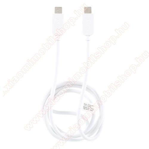 Xiaomi Mi A1SONY USB Type-C / Type-C adatátviteli kábel / USB töltő 0,2 m - FEHÉR - GYÁRI
