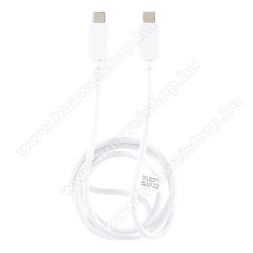 HUAWEI Mate 10 Porsche DesignSONY USB Type-C / Type-C adatátviteli kábel / USB töltő 0,2 m - FEHÉR - GYÁRI