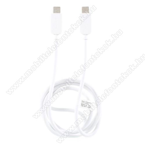 HUAWEI Mate 20 LiteSONY USB Type-C / Type-C adatátviteli kábel / USB töltő 0,2 m - FEHÉR - GYÁRI