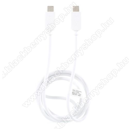 BLACKBERRY KeyoneSONY USB Type-C / Type-C adatátviteli kábel / USB töltő 0,2 m - FEHÉR - GYÁRI