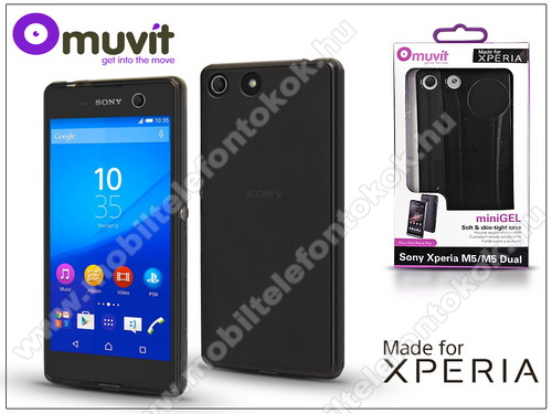 Sony Xperia M5 (E5603/E5606/E5653) hátlap - Made for Xperia Muvit miniGel - black