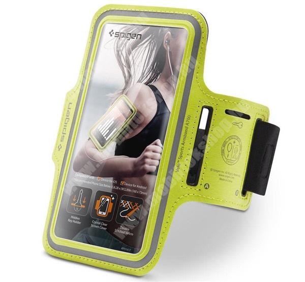 """Blackphone SPIGEN ARMBAND UNIVERZÁLIS SPORT tok / karpánt - NEON ZÖLD - kulcstartó, elasztikus, max. 6.9""""-os készülékekhez - 000EM24380 - GYÁRI"""