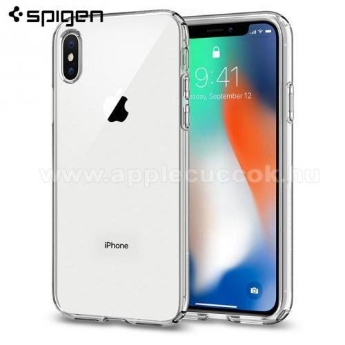 APPLE iPhone XSSPIGEN LIQUID CRYSTAL szilikon v�d? tok / h�tlap - �TL�TSZ� - APPLE iPhone X / APPLE iPhone XS - 063CS25110 - GY�RI