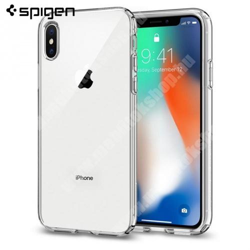 SPIGEN LIQUID CRYSTAL szilikon védő tok / hátlap - ÁTLÁTSZÓ - APPLE iPhone X / APPLE iPhone XS - 063CS25110 - GYÁRI