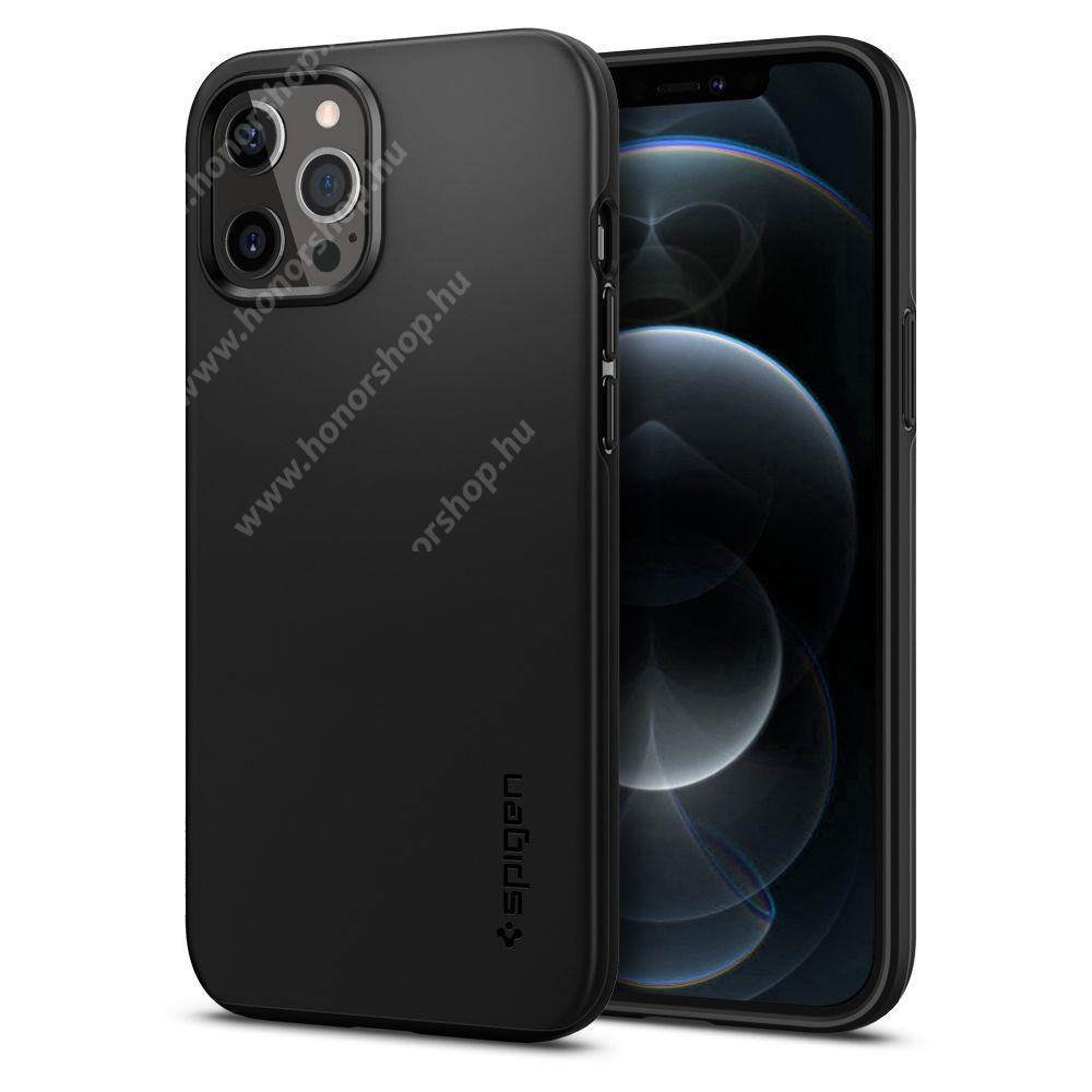 SPIGEN THIN FIT CLASSIC műanyag védő tok / hátlap - ULTRAVÉKONY! - FEKETE - APPLE iPhone 12 Pro Max - ACS01612 - GYÁRI