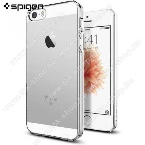 SPIGEN THIN FIT műanyag védő tok / hátlap - ULTRAVÉKONY! - ÁTLÁTSZÓ - APPLE IPhone 5 / APPLE IPhone 5S / APPLE IPhone SE - 041CS20246 - GYÁRI