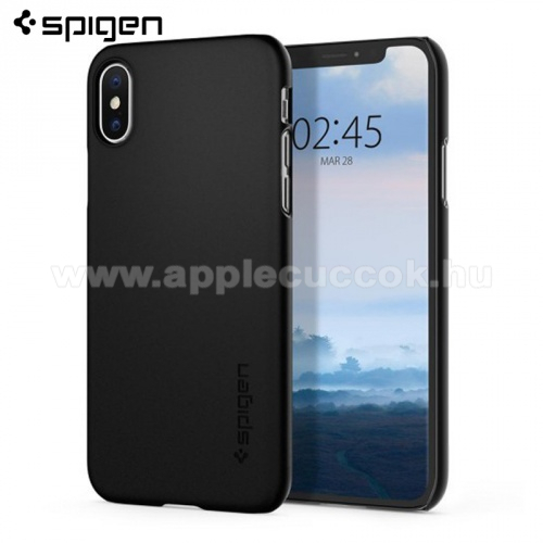 SPIGEN THIN FIT műanyag védő tok / hátlap - ULTRAVÉKONY! - FEKETE - APPLE iPhone X / APPLE iPhone XS - 063CS24904 - GYÁRI