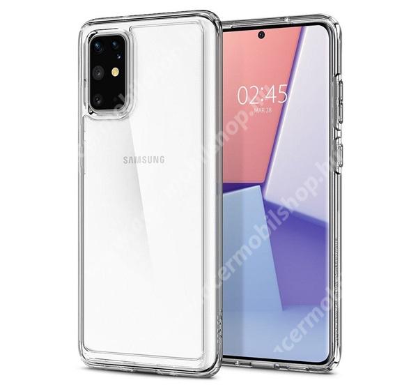 SPIGEN ULTRA HYBRID műanyag védő tok / hátlap - légpárnás szilikon szegély - ACS00755 - ÁTLÁTSZÓ - SAMSUNG Galaxy S20 Plus (SM-G985F) / SAMSUNG Galaxy S20 Plus 5G (SM-G986) - GYÁRI