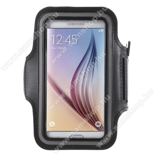 SAMSUNG SM-G870A Galaxy S5 ActiveSPORT tok / karpánt - FEKETE - SAMSUNG SM-G920 Galaxy S6 / SAMSUNG SM-G925F Galaxy S6 Edge - 145 x 75mm