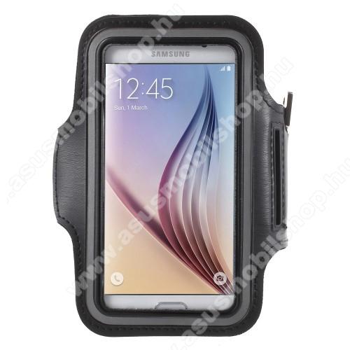 ASUS Zenfone Live (ZB501KL)SPORT tok / karpánt - FEKETE - SAMSUNG SM-G920 Galaxy S6 / SAMSUNG SM-G925F Galaxy S6 Edge - 145 x 75mm