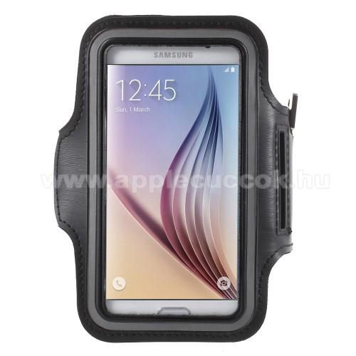 SPORT tok / karp�nt - FEKETE - SAMSUNG SM-G920 Galaxy S6 / SAMSUNG SM-G925F Galaxy S6 Edge - 145 x 75mm