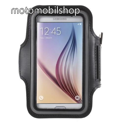 MOTOROLA Moto X (2014) SPORT tok / karpánt - FEKETE - SAMSUNG SM-G920 Galaxy S6 / SAMSUNG SM-G925F Galaxy S6 Edge - 145 x 75mm