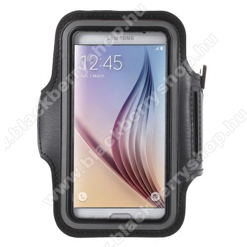 BLACKBERRY Evolve XSPORT tok / karpánt - FEKETE - SAMSUNG SM-G920 Galaxy S6 / SAMSUNG SM-G925F Galaxy S6 Edge - 145 x 75mm