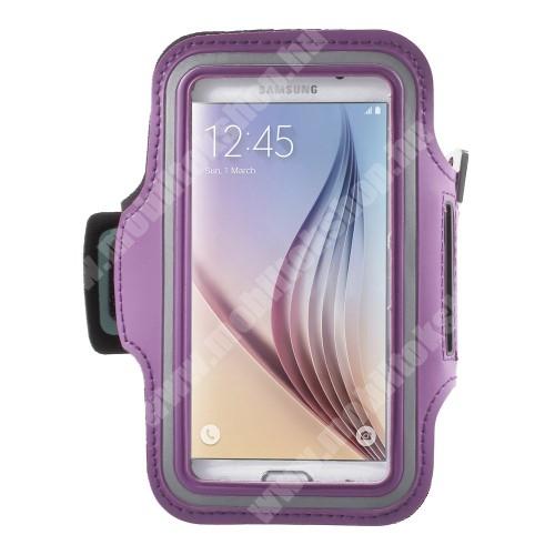 Elephone P3000 SPORT tok / karpánt - LILA - SAMSUNG SM-G920 Galaxy S6 / SAMSUNG SM-G925F Galaxy S6 Edge - 145 x 75mm