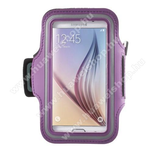 HUAWEI Y5 (2017)SPORT tok / karpánt - LILA - SAMSUNG SM-G920 Galaxy S6 / SAMSUNG SM-G925F Galaxy S6 Edge - 145 x 75mm