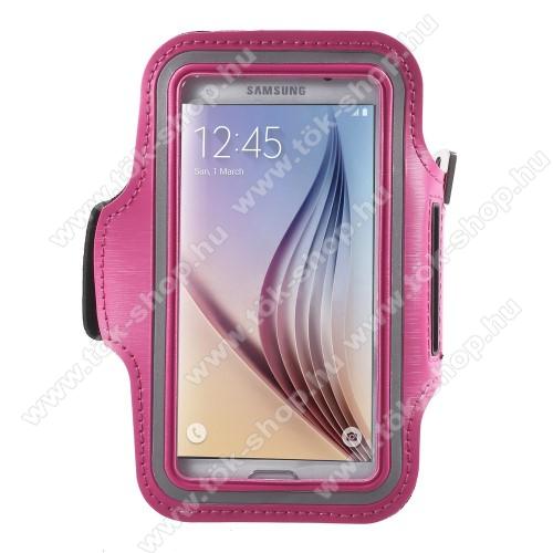 SPORT tok / karpánt - MAGENTA - SAMSUNG SM-G920 Galaxy S6 / SAMSUNG SM-G925F Galaxy S6 Edge - 145 x 75mm