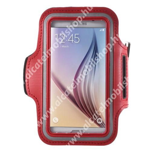 SPORT tok / karpánt - PIROS - SAMSUNG SM-G920 Galaxy S6 / SAMSUNG SM-G925F Galaxy S6 Edge - 145 x 75mm