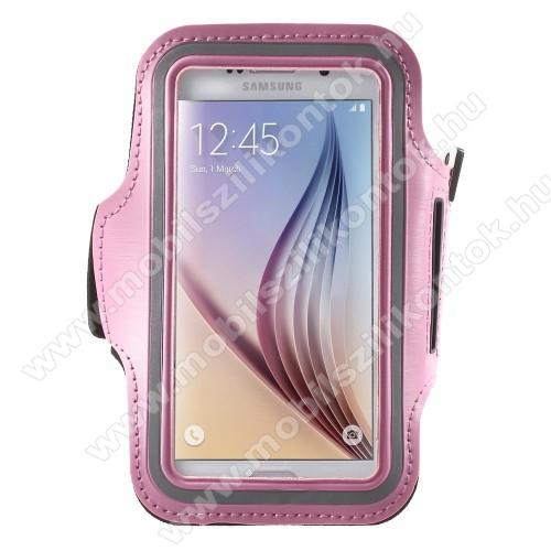 SPORT tok / karpánt - RÓZSASZÍN - SAMSUNG SM-G920 Galaxy S6 / SAMSUNG SM-G925F Galaxy S6 Edge - 145 x 75mm