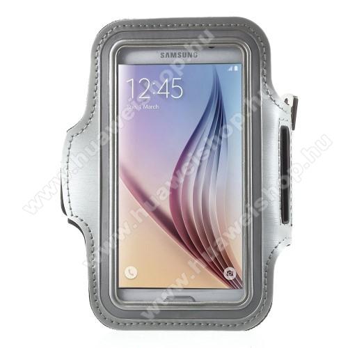 SPORT tok / karpánt - SZÜRKE - SAMSUNG SM-G920 Galaxy S6 / SAMSUNG SM-G925F Galaxy S6 Edge - 145 x 75mm