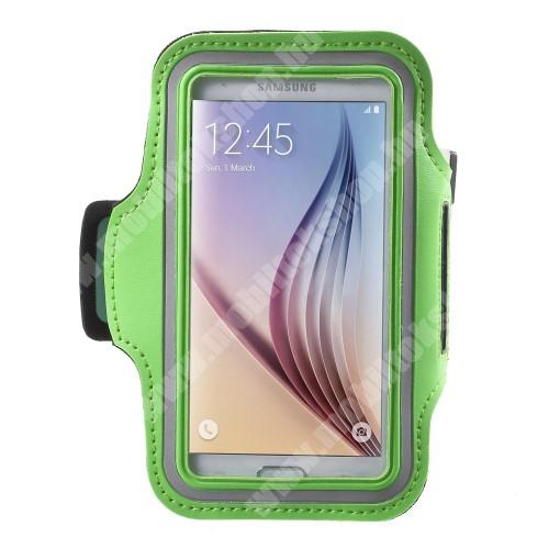Elephone P3000 SPORT tok / karpánt - ZÖLD - SAMSUNG SM-G920 Galaxy S6 / SAMSUNG SM-G925F Galaxy S6 Edge - 145 x 75mm