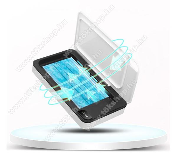 Sterilizáló - UV, 5W, mágneses, vezeték nélkülli töltés, fogadóegység nélkül!, mobiltelefonhoz ideális, 6.5