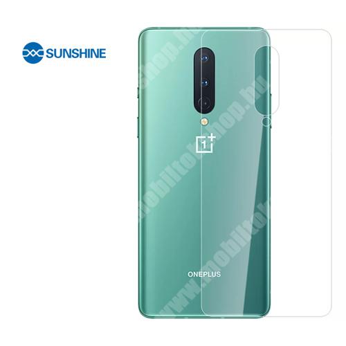 SUNSHINE Hydrogel TPU hátlapvédő fólia - 1db - OnePlus 8 - GYÁRI