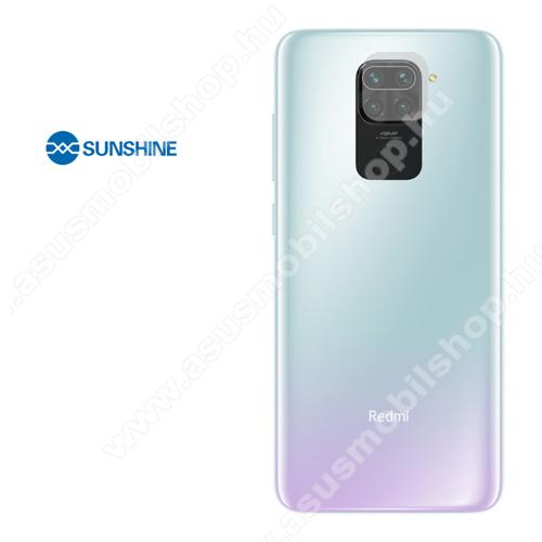SUNSHINE Hydrogel TPU kameravédő fólia - Ultra Clear, ÖNREGENERÁLÓ! - 1db - Xiaomi Redmi Note 9 - GYÁRI