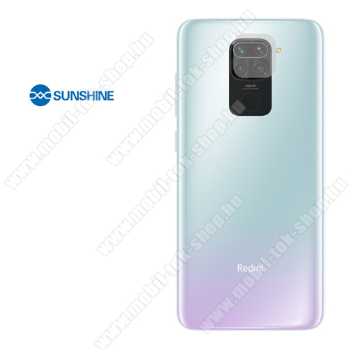 SUNSHINE Hydrogel TPU kameravédő fólia - Ultra Clear - 1db - Xiaomi Redmi Note 9 - GYÁRI