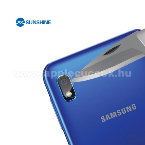 SUNSHINE Hydrogel TPU kameravédő fólia - Ultra Clear, ÖNREGENERÁLÓ! - 1db - SAMSUNG Galaxy A10 (SM-A105FN) - GYÁRI