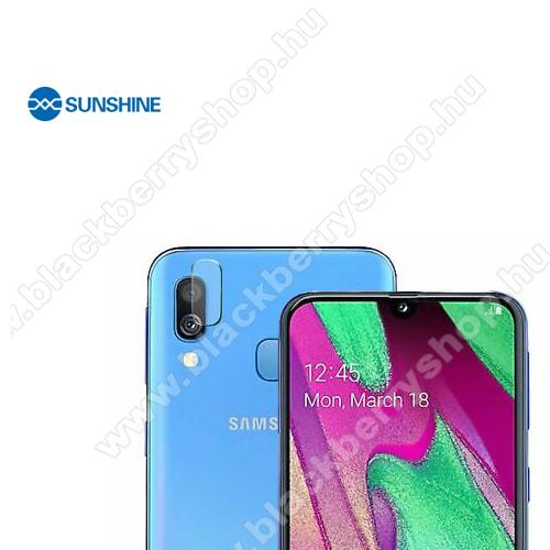 SUNSHINE Hydrogel TPU kameravédő fólia - Ultra Clear, ÖNREGENERÁLÓ! - 1db - SAMSUNG Galaxy A40 (SM-A405F) - GYÁRI