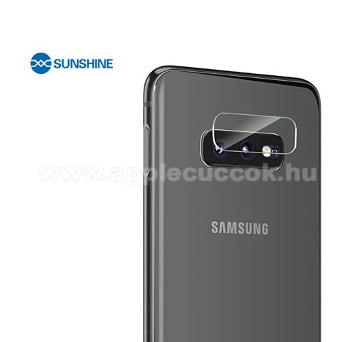 SUNSHINE Hydrogel TPU kameravédő fólia - Ultra Clear, ÖNREGENERÁLÓ! - 1db - SAMSUNG Galaxy S10e (SM-G970F) - GYÁRI