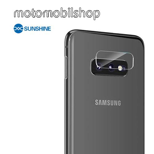 SUNSHINE Hydrogel TPU kameravédő fólia - Ultra Clear - 1db - SAMSUNG Galaxy S10e (SM-G970F) - GYÁRI