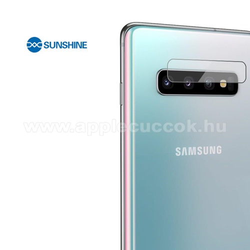 SUNSHINE Hydrogel TPU kameravédő fólia - Ultra Clear, ÖNREGENERÁLÓ! - 1db - SAMSUNG Galaxy S10 (SM-G973F) - GYÁRI