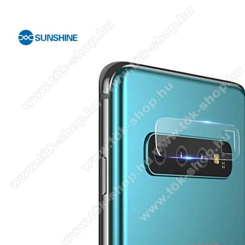 SUNSHINE Hydrogel TPU kameravédő fólia - Ultra Clear - 1db - SAMSUNG Galaxy S10 Plus (SM-G975F) - GYÁRI