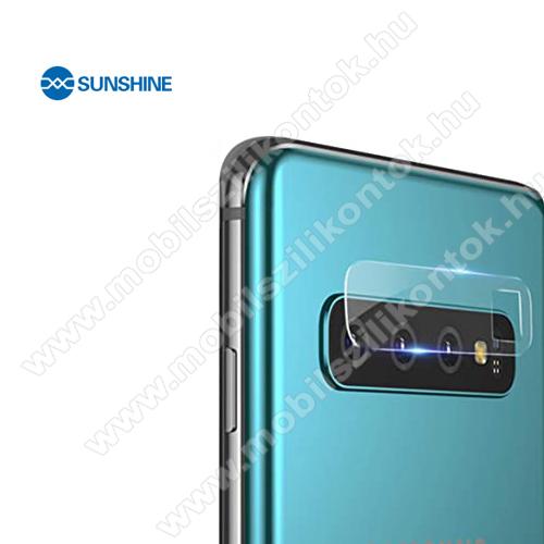 SUNSHINE Hydrogel TPU kameravédő fólia - Ultra Clear, ÖNREGENERÁLÓ! - 1db - SAMSUNG Galaxy S10 Plus (SM-G975F) - GYÁRI